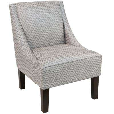 Nice Diego Champagne Swoop Arm Chair