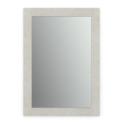 33 in. x 47 in. (L1) Rectangular Framed Mirror with Standard Glass and Easy-Cleat Float Mount Hardware in Stone Mosaic