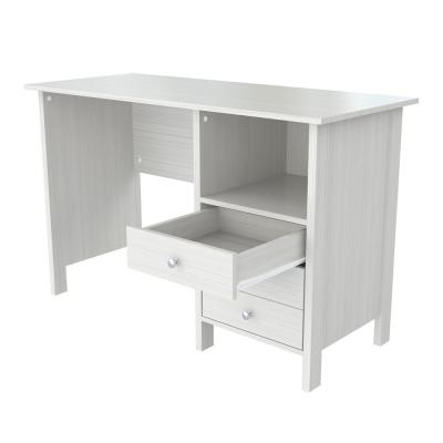 47.01 in. Washed Oak Rectangular 3 -Drawer Computer Desk with Shelf