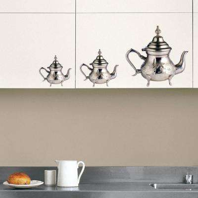 Multicolor Teapots Wall Decal
