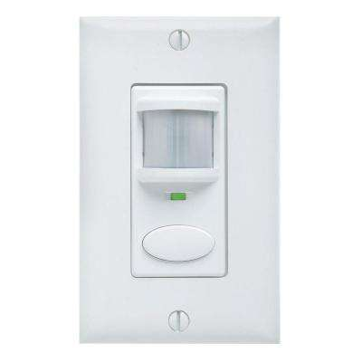 Passive Dual Technology Vacancy Motion Sensing Wall Switch - White