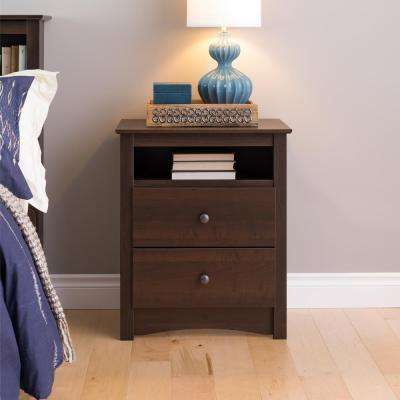 Fremont 2-Drawer Espresso Nightstand