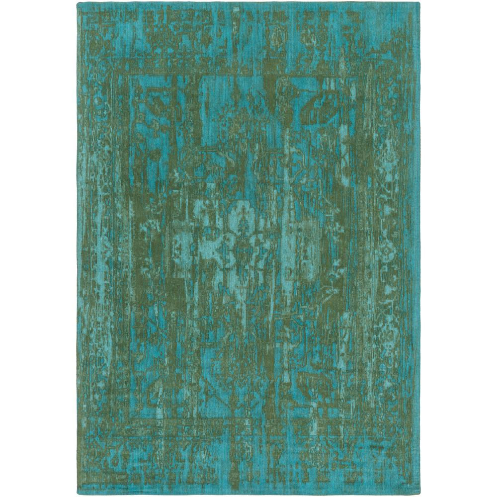 Elegant Maya Teal 5 ft. x 8 ft. Indoor Area Rug