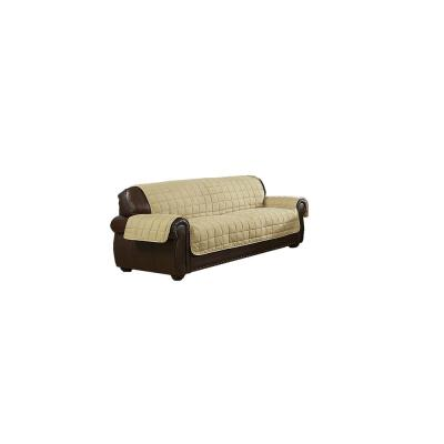 Jeremy Water Resistant Taupe Fit Polyester Fit Sofa Slip Cover