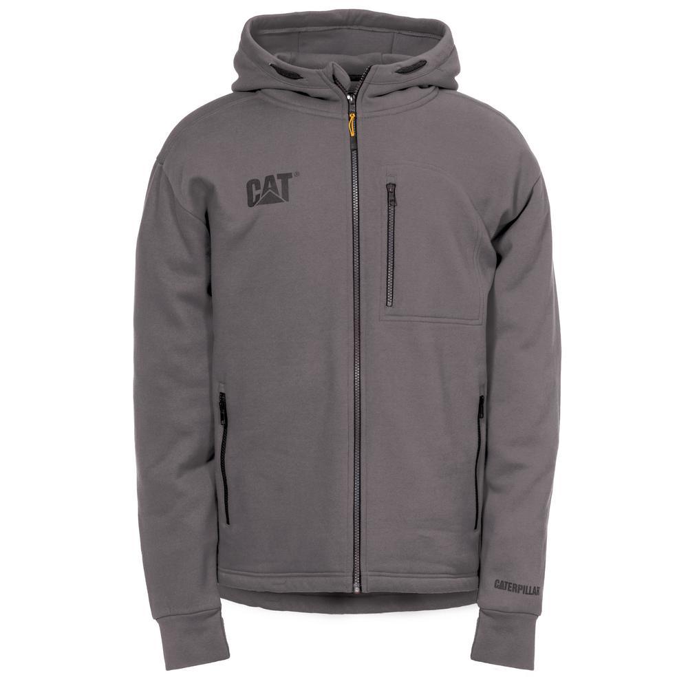 Drop Tail Men's Size 2X-Large Dark Shadow Cotton/Polyester Full Zip Sweatshirt