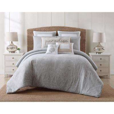 Tropical Plantation Embroidered King Comforter Set