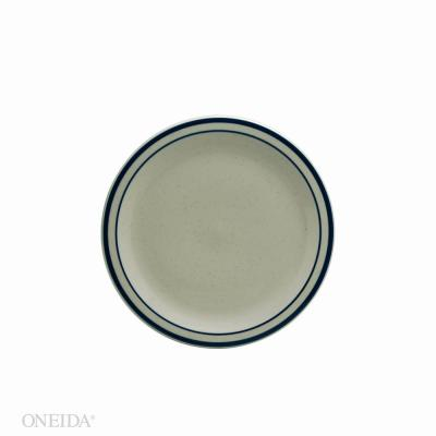 7.25 in. Blue Ridge Porcelain Narrow Rim Plates (Set of 36)
