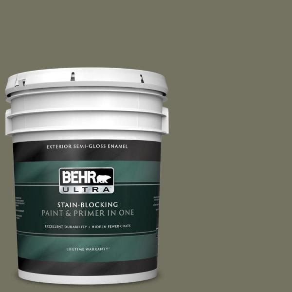 Reviews For Behr Ultra 5 Gal Bxc 20 Amazon River Semi Gloss Enamel Exterior Paint And Primer In One 585305 The Home Depot
