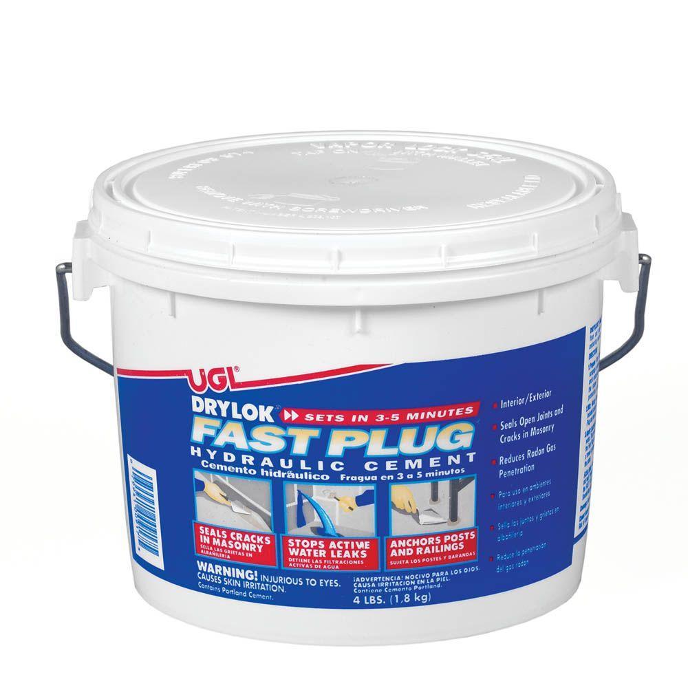 Drylok 4 Lb Fast Plug Hydraulic Cement 00917 The Home Depot