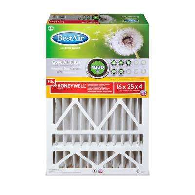 16 in. x 25 in. x 4 in. Honeywell FPR 4 Air Cleaner Filter