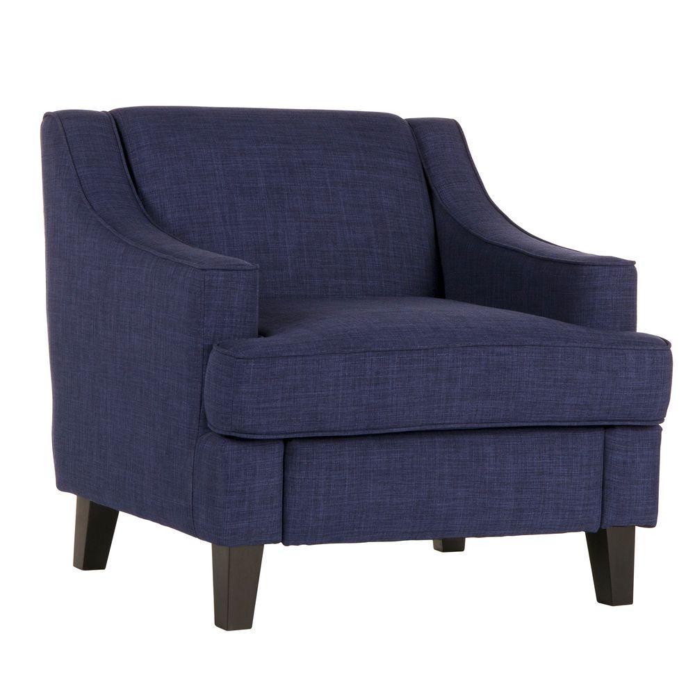 HomeSullivan Watson Azure Linen Arm Chair 409993TBL-1CHR