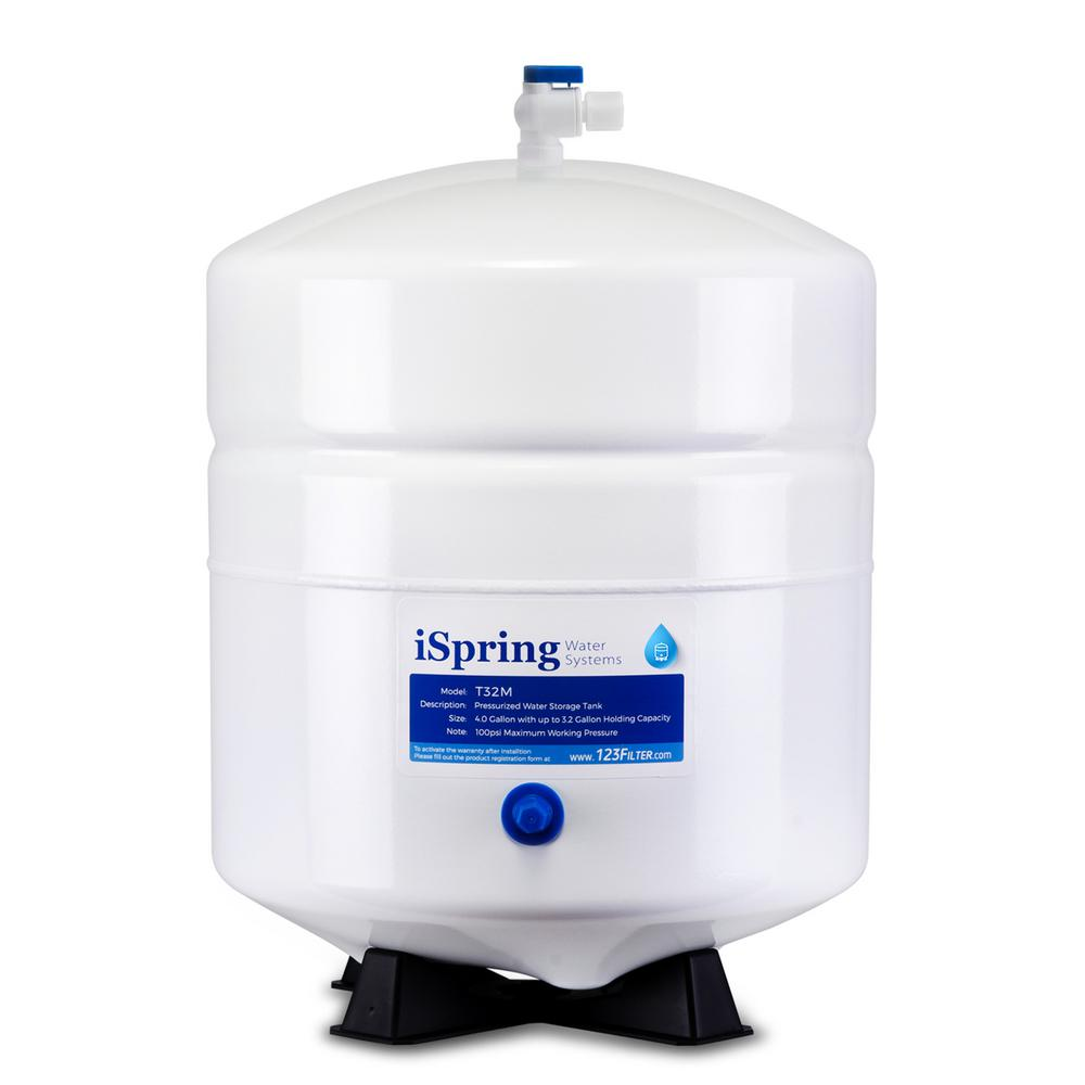3.2 Gal. Metal Pressurized Reverse Osmosis Water Storage Tank with Ball