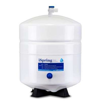 3.2 Gal. Metal Pressurized Reverse Osmosis Water Storage Tank with Ball Valve