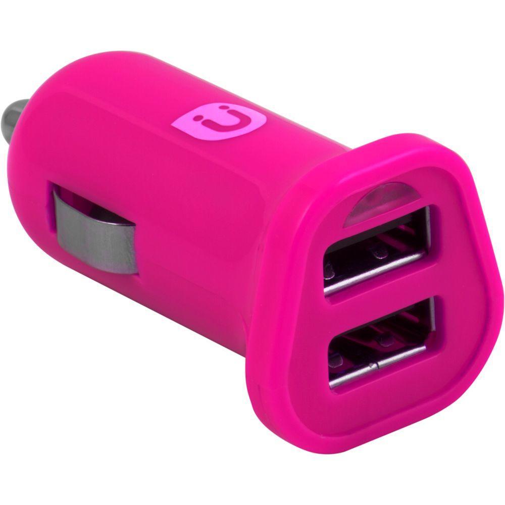 2.0 - 2.4 Amp DC USB Adapter, Pink