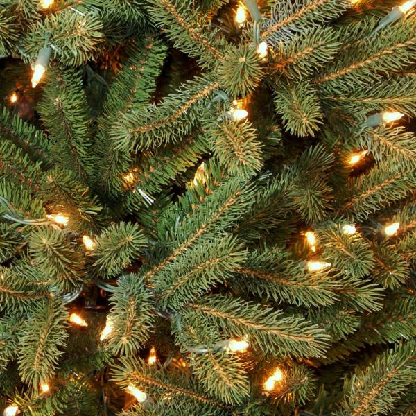 National Tree Company 9 Ft Feel Real Jersey Frasier Fir Medium Hinged Artificial Christmas Tree With 1500 Clear Lights Pejf1 302 90 The Home Depot