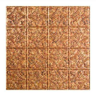 Traditional 1 - 2 ft. x 2 ft. Lay-in Ceiling Tile in Cracked Copper
