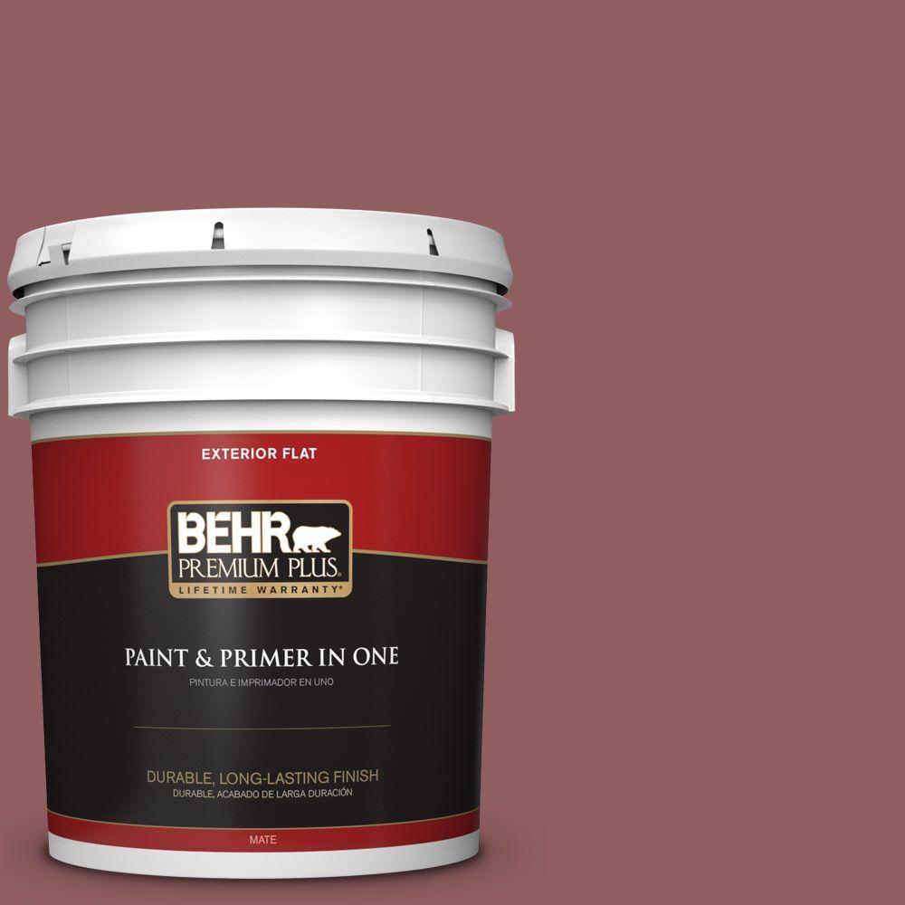BEHR Premium Plus 5-gal. #S130-6 Spiced Potpourri Flat Exterior Paint