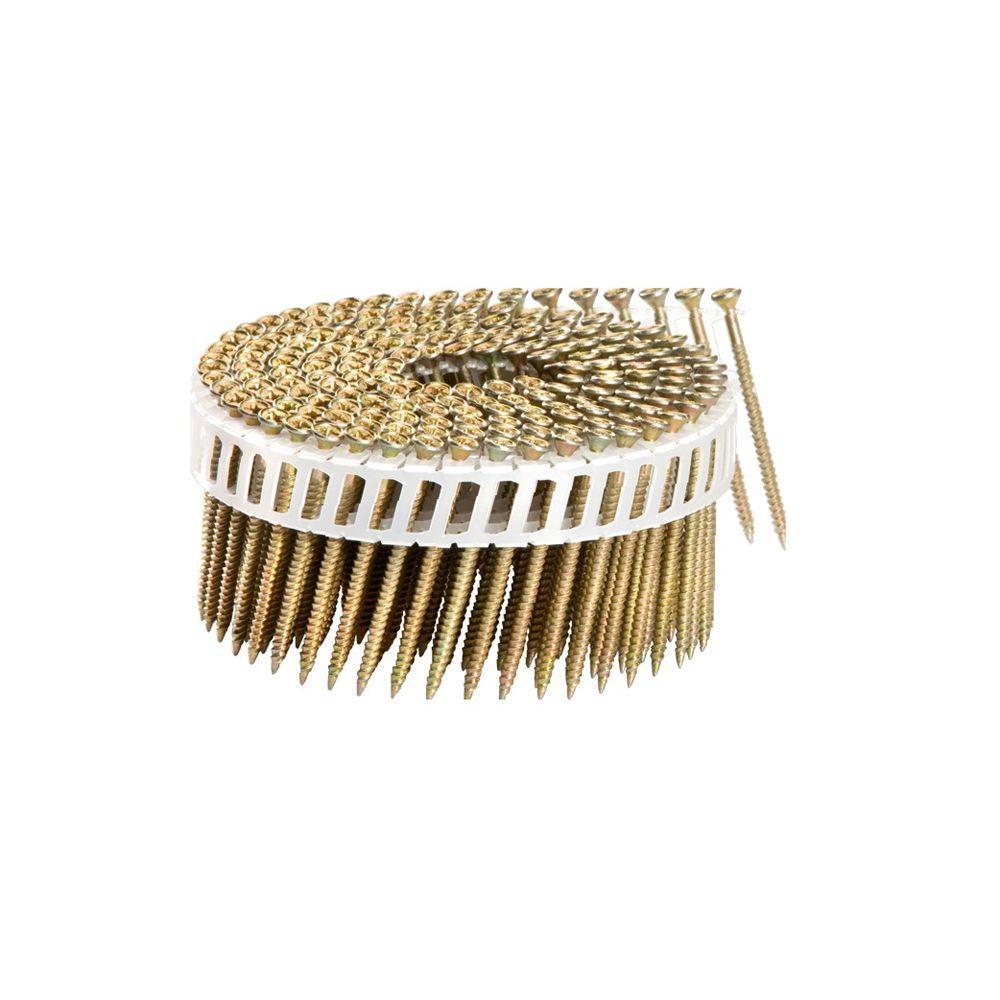 2-1/4 in. x 1/9 in. 15-Degree Coarse Thread FasCoat Plastic Sheet Coil Philips Head Nail Screw Fastener (2,000-Pack)