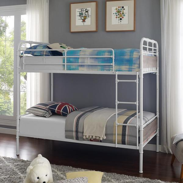 Walker Edison Furniture Company Urban Industrial White and ...