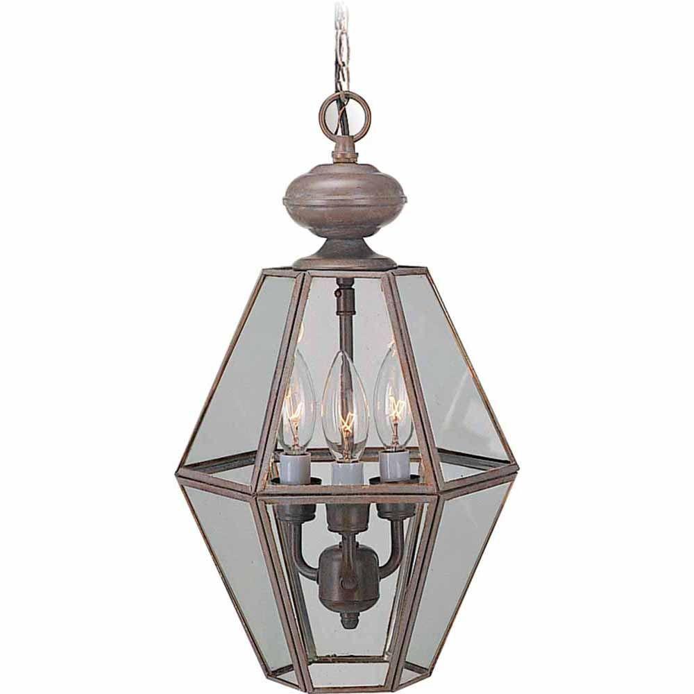 Filament Design Lenor 3-Light Prairie Rock Fluorescent Ceiling Chandelier