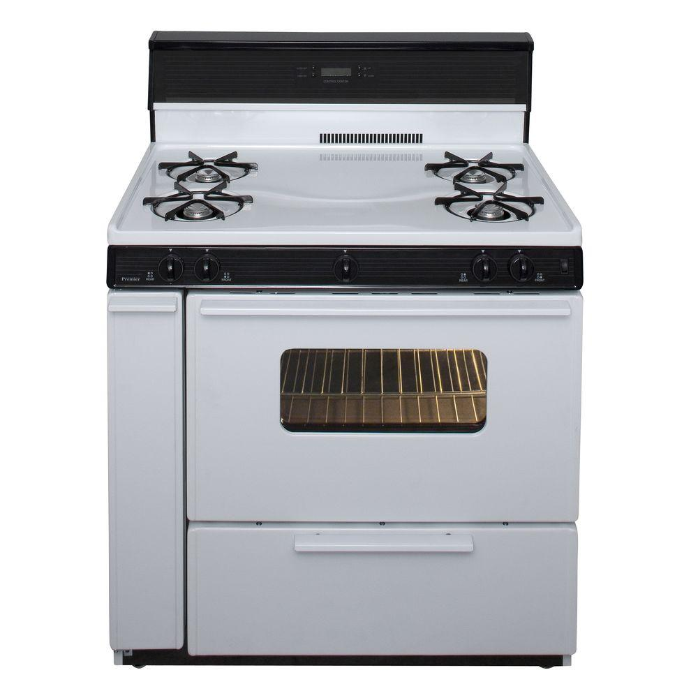 Freestanding Gas Range In White