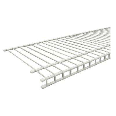 SuperSlide 96 in. W x 12 in. D White Ventilated Wire Shelf