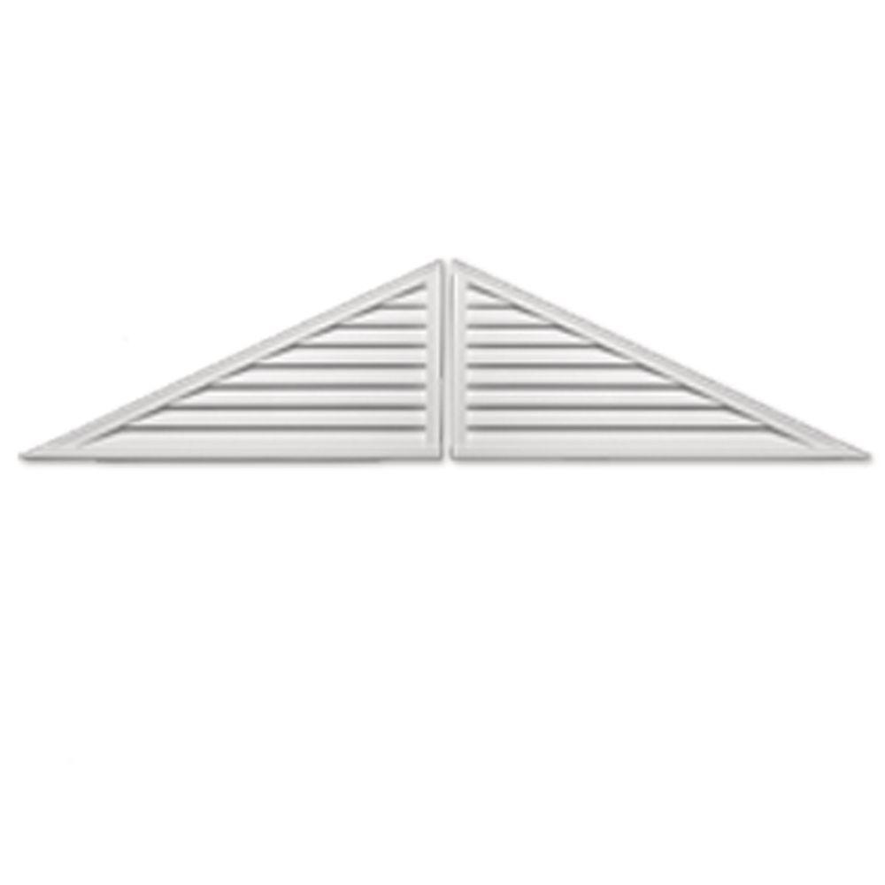 Fypon 108 in. x 27 in. x 2 in. Polyurethane Two-Piece Functional Triangle Louver Gable Vent