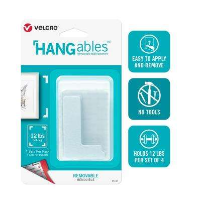 HANGables Removable Wall Fasteners 3 in. x 1-3/4 in. Corners (4-Count)