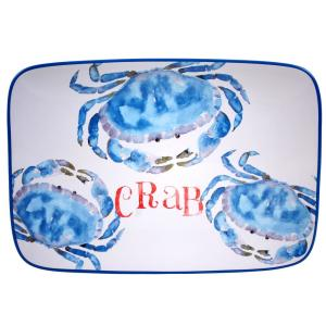 The Beach House Kitchen Collection Rectangular Crab Platter by