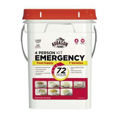 72-Hour 4-Person Emergency Food Supply Evacuation Pail 7 Varieties 25-Year Shelf Life