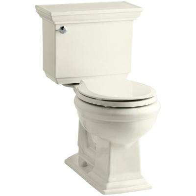 Memoirs Stately 2-Piece 1.28 GPF Single Flush Round Toilet with AquaPiston Flushing Technology in Biscuit