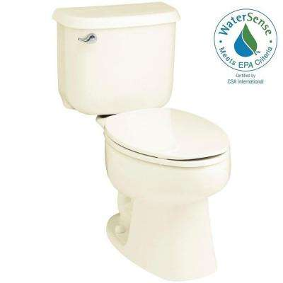 Windham 2-piece 1.28 GPF Single Flush Elongated Toilet in Biscuit