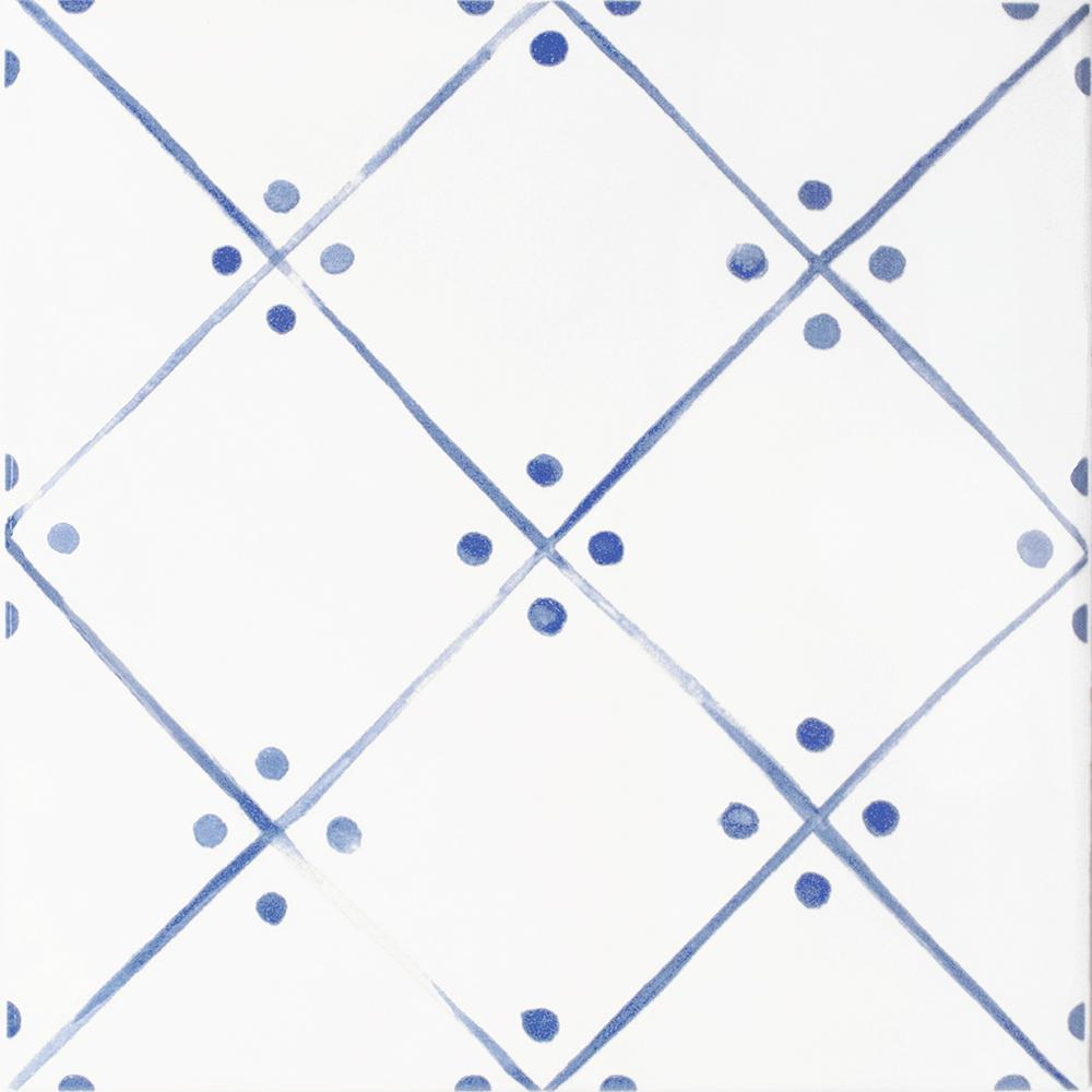 InDesign Handspun Blue Line Art 6 in. x 6 in. Ceramic Wall Tile (10 sq. ft. / case)