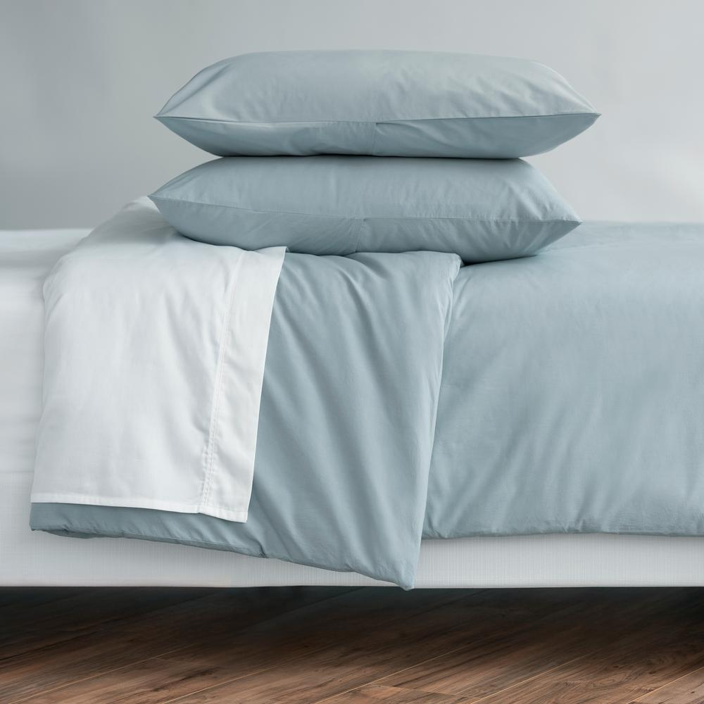 WELHOME The Cozy Cotton Chambray King Duvet Set was $129.99 now $64.99 (50.0% off)