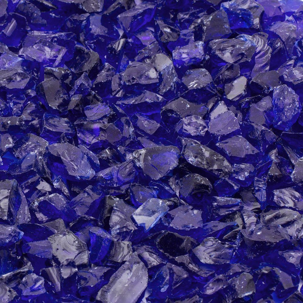 Margo Garden Products 1/4 in. 25 lb. Cobalt Blue Landscape Fire Glass