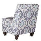 Homepop Blue and Cream Slate Large Accent Chair with Pillow