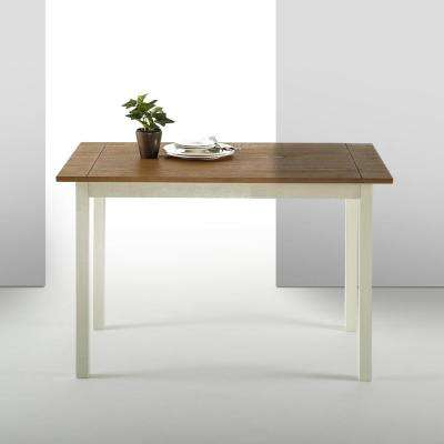 Becky Farmhouse Wood Dining Table / Table Only