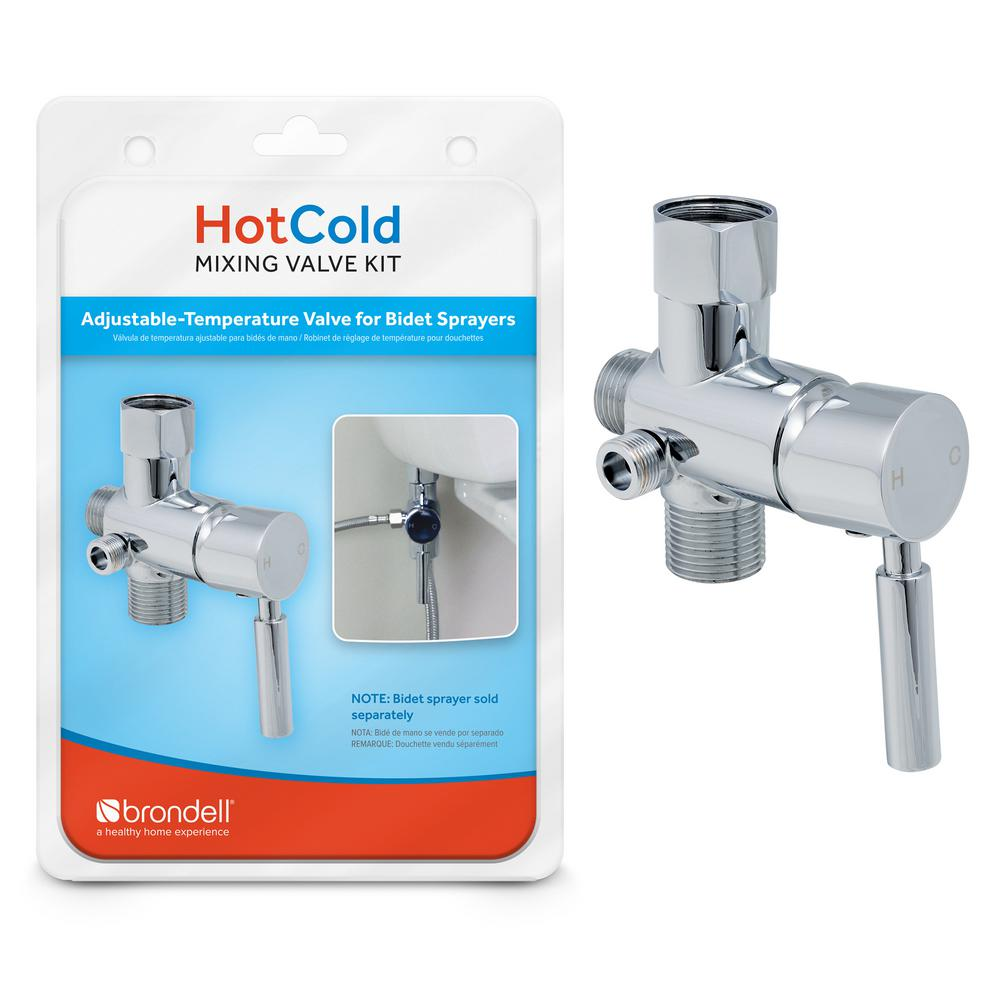 Brondell Hot Cold Mixing Valve Upgrade Kit In Silver Mvk 10 The Home Depot
