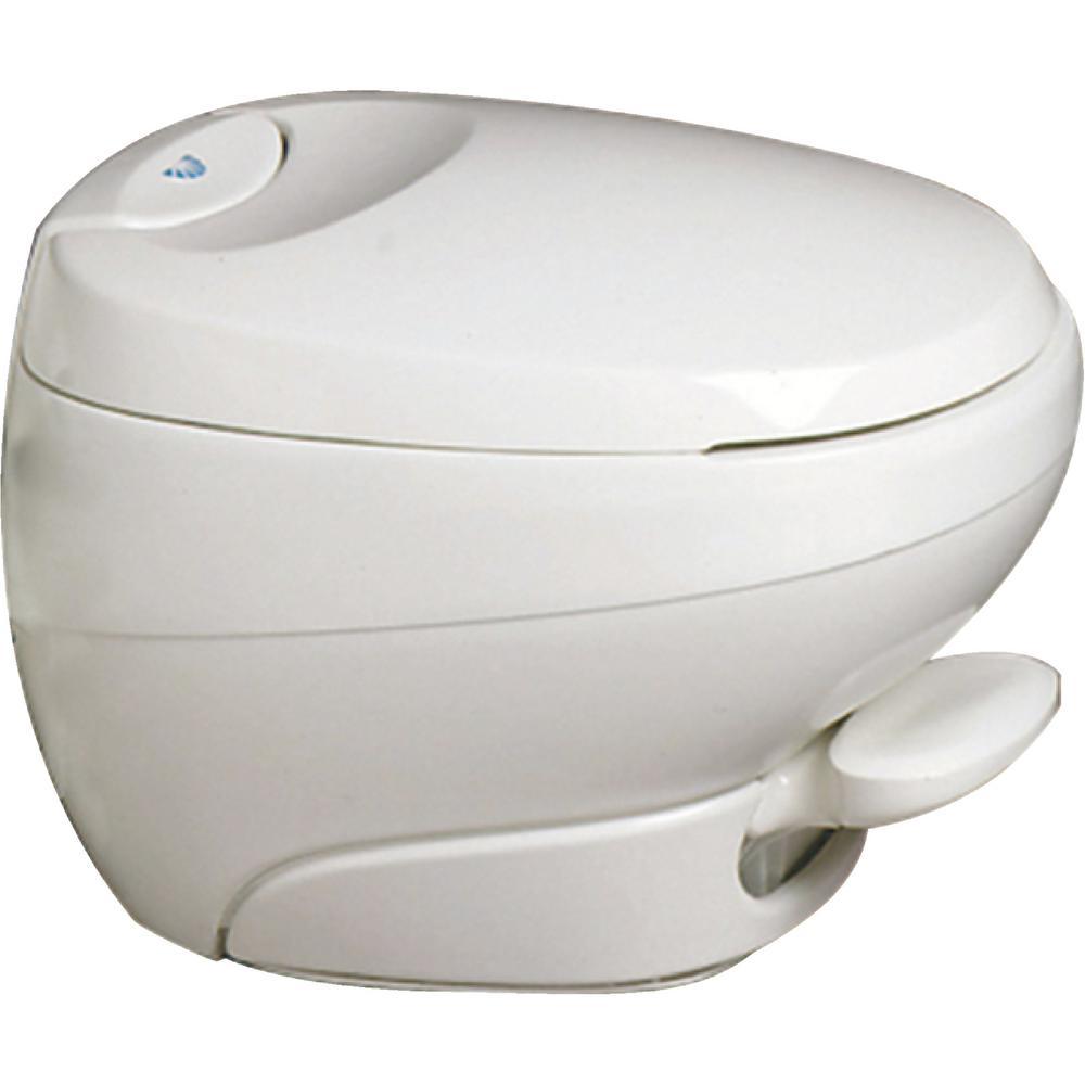 Thetford Aqua Magic Low Profile White Bravura Permanent Rv Toilet Parts Breakdown Together With Diagram