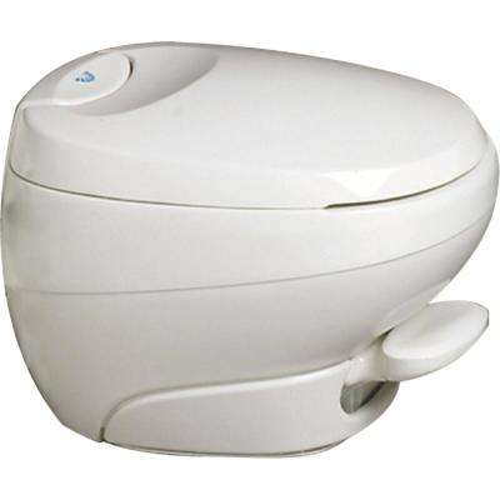 Aqua-Magic Low Profile Bravura Permanent RV Toilet - White