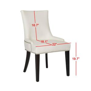 Remarkable Safavieh Lester White Leather Espresso 19 In H Dining Chair Pdpeps Interior Chair Design Pdpepsorg