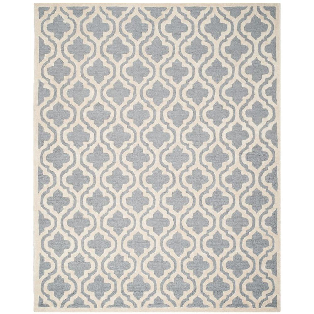 Safavieh Cambridge Silver/Ivory 10 ft. x 14 ft. Area Rug
