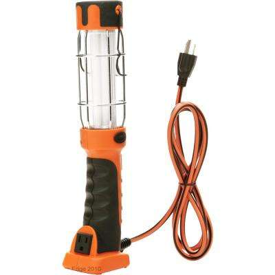 13-Watt 6 ft. 16/3 SJT Fluorescent Portable Guarded Trouble Work Light with Hanging Hook