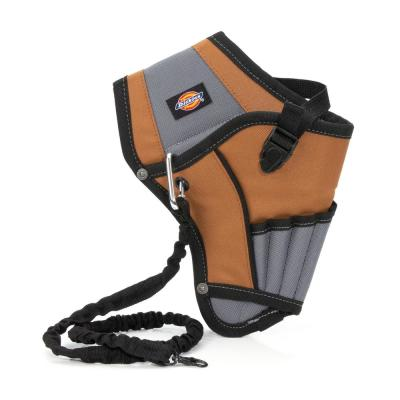 5-Pocket Drill Holster with Safety Tether in Grey/Tan