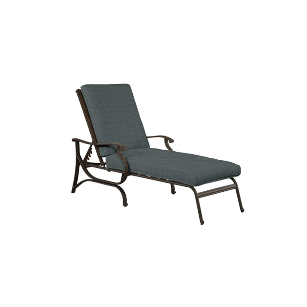 H&ton Bay Pembrey All-Weather Wicker Patio Chaise Lounge Chair with Peacock Java Cushions-HD 17602 - The Home Depot  sc 1 st  Home Depot : hampton bay chaise lounge cushions - Sectionals, Sofas & Couches