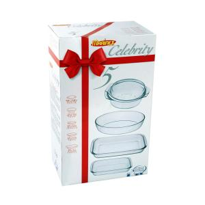 Click here to buy Marinex Celebrity 5-Piece Glass Oven/Microwave Bakeware Set. by Marinex.