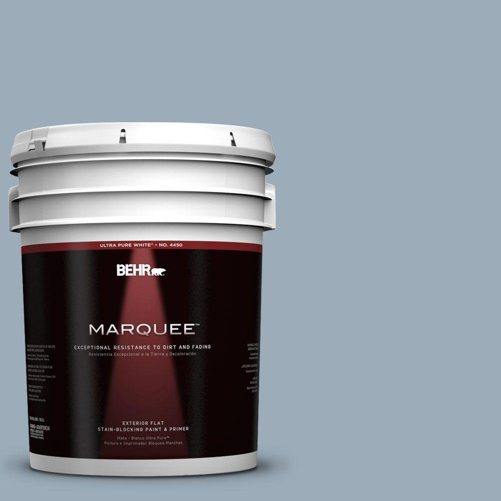 BEHR MARQUEE 5-gal. #570F-4 Blue Willow Flat Exterior Paint