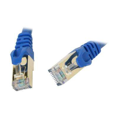 3-Foot Cat 7 Shielded Networking Cable - Blue Twisted Pair (S/STP)
