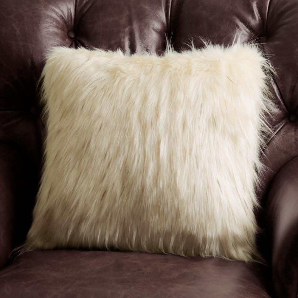 Iced Fox Faux Fur Pillow