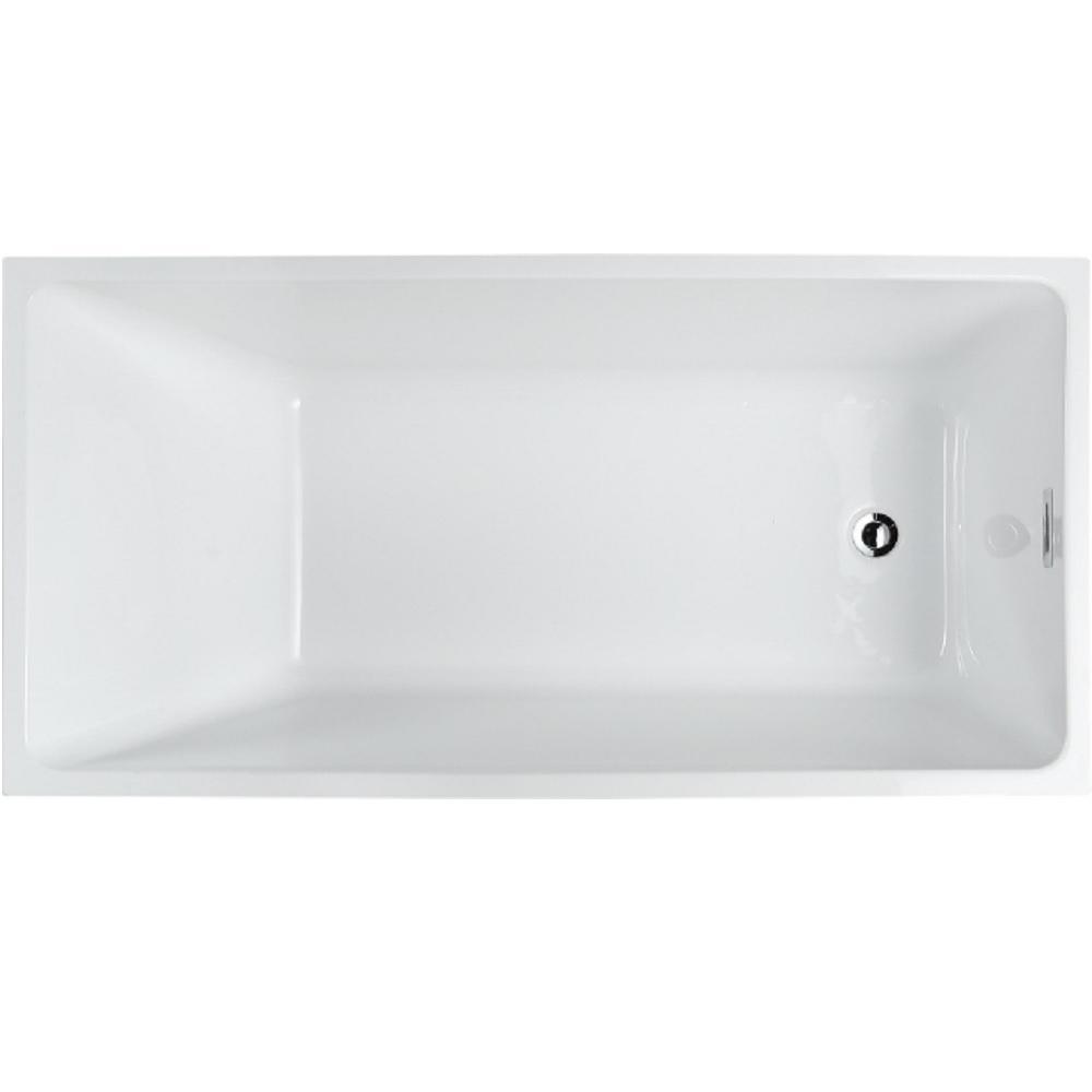 Bellaterra Home Brindisi 59.04 in. Acrylic Flatbottom Non-Whirlpool Freestanding Bathtub in Glossy Black